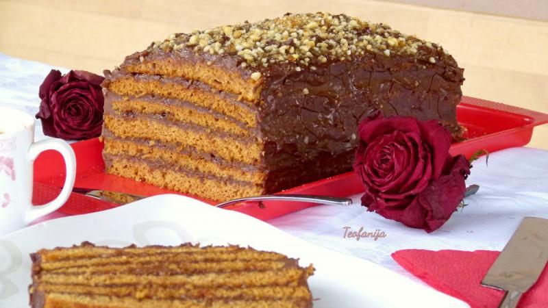 Посна грилијаж торта
