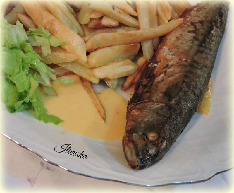 Скуша со Аиоли сос за риба