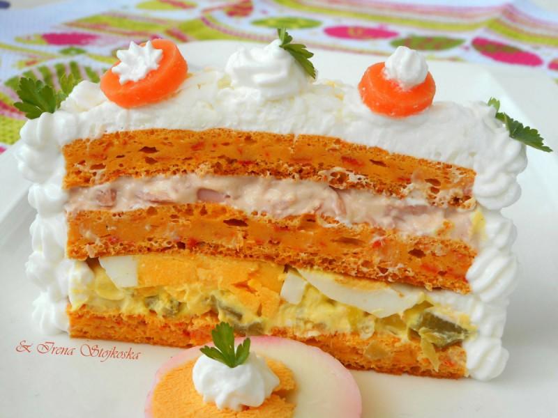 Солена празнична торта
