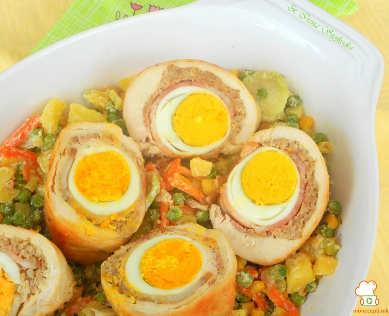Увијачи со варени јајца