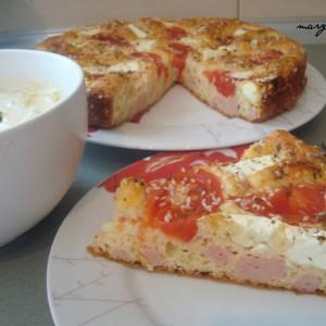 Пита со шунка, домати и сирење