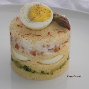 Редена кус кус салата со варени јајца
