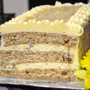 Посна роденденска торта со портокал