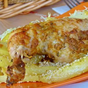 Маринирано печено пилешко