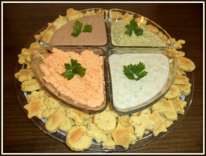 Рузмарин кекси и намаз од туна, Алпски намаз, Ѕаѕики и Авокадо намаз
