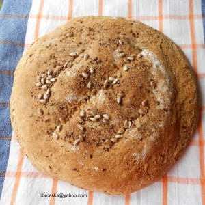 Интегрален селски леб со мед