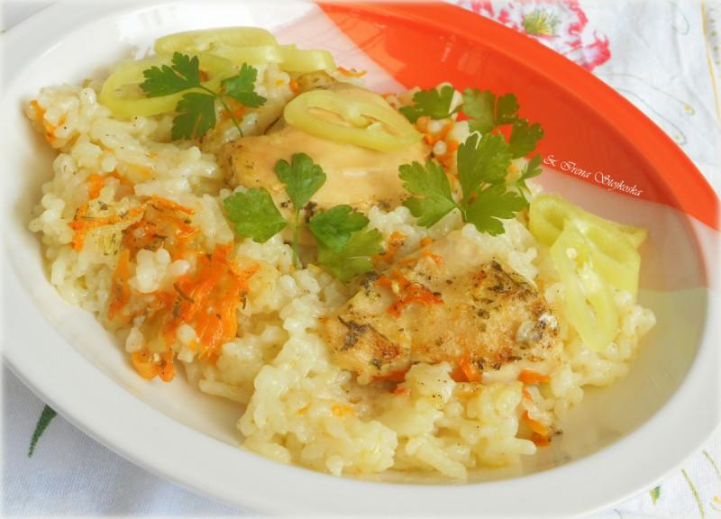 Пилешки стек на ориз