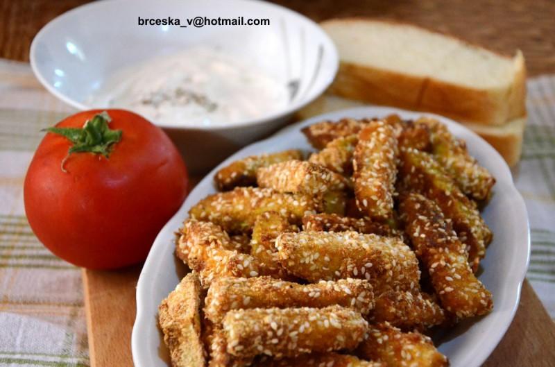 Помфрит од печени тиквички