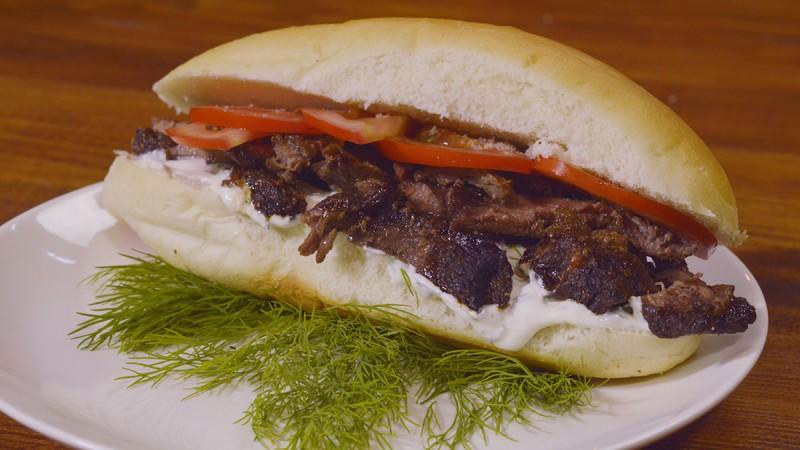 Видео рецепт: Донер сендвич