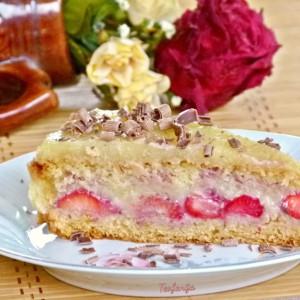 Гриз торта со јагоди (посно)