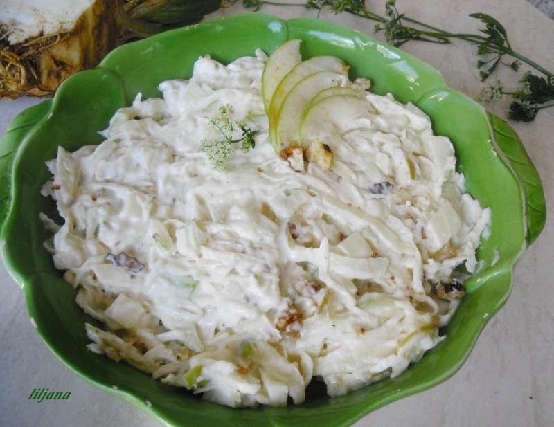 Салата со целер и јаболка - Valdorf salata