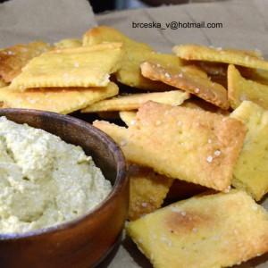 Експресни солени крекери (посно)