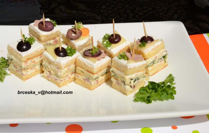 Солена-канапеи торта