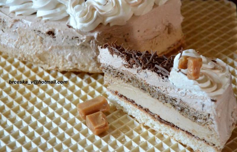 Карамелна Нугат торта
