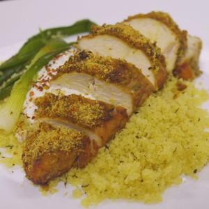 Видео рецепт: Печено пилешко со кус кус