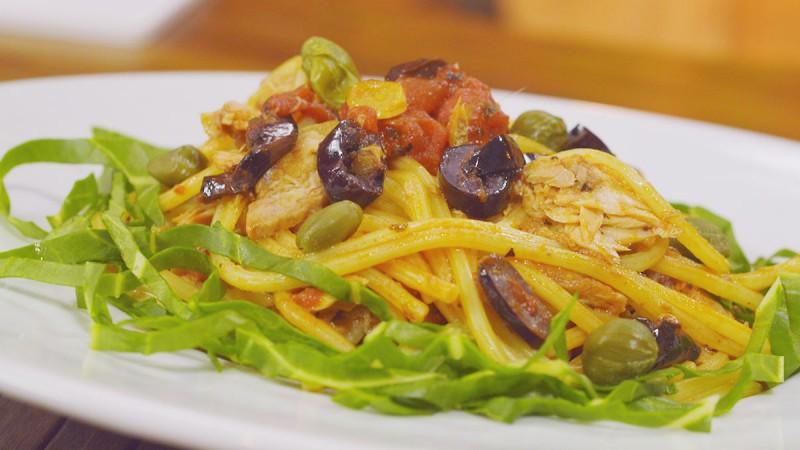 Видео рецепт: Паста туна Путанеска