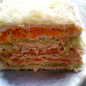 Брза солена кекс торта