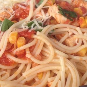 Шпагети со пилешко