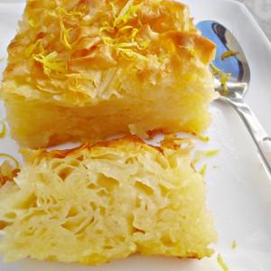 Лимон пита со готови кори и шербет