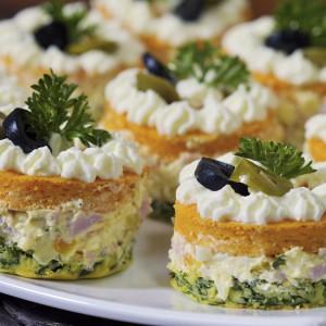 Видео рецепт: Сoлени кетеринг тортички