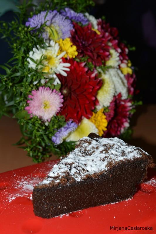 Чоколаден колач без миксер - Gateau au chocolat fondant