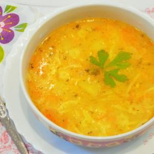 Супа со зеленчук и гриз (посно)