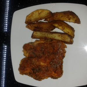 Маринирани пилешки гради со сладок компир