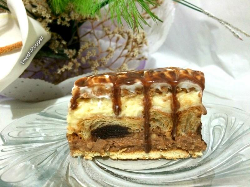 Торта со Кроасани (Без печење)