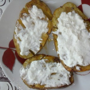 Не лупени печени компири
