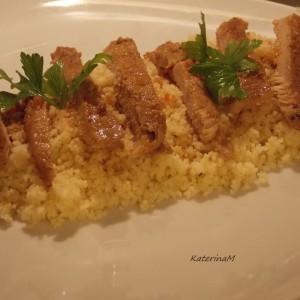 Кус кус со маринирано месо