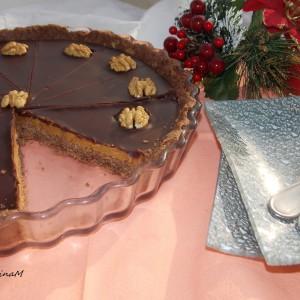 Пикантен чоко-карамел колач