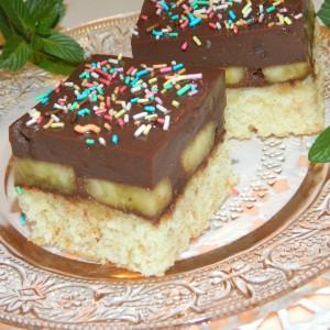 Торта со чоколаден пудинг (посно)