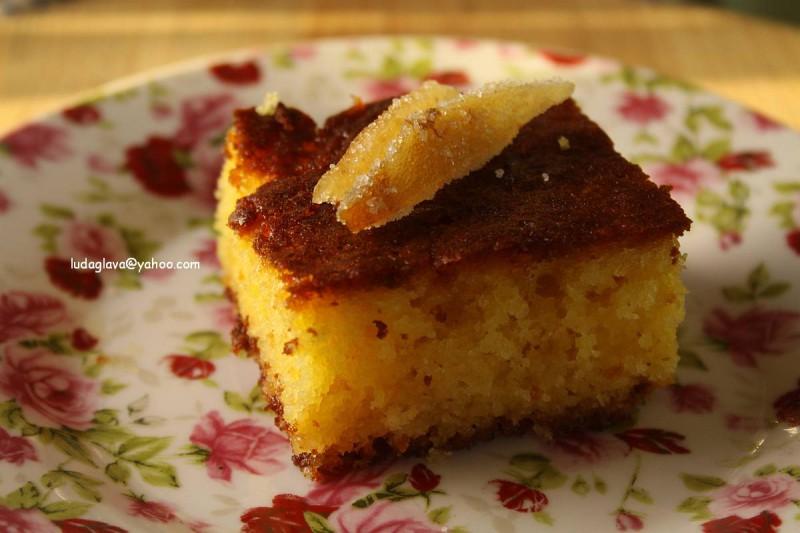 Јогурт торта со шербет (Колач со јогурт и шербет)