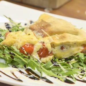 Видео рецепт: Рустична пита со шери домати и бешамел