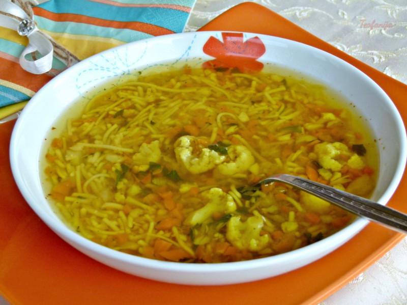 Карфиол-морков супа (посно)
