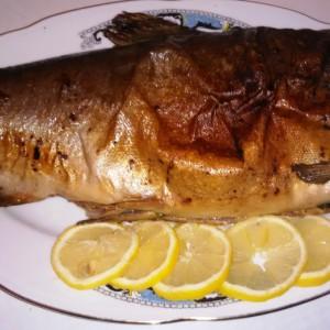 Печен лосос
