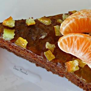 Чоколаден колач со мандарини (без миксер)