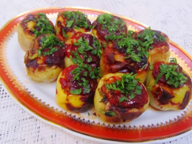 Бабури полнети со хељда и зеленчук ( посно)