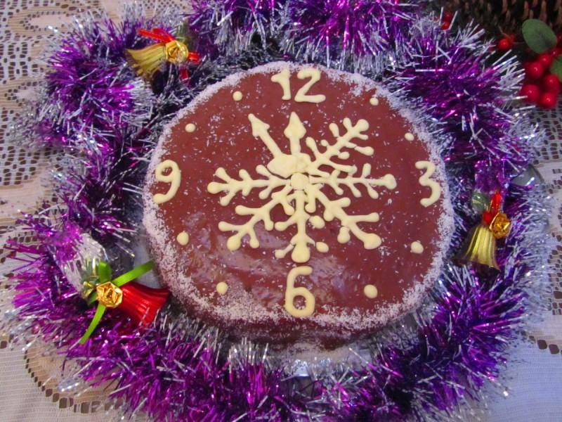 Торта Новогодишен часовник