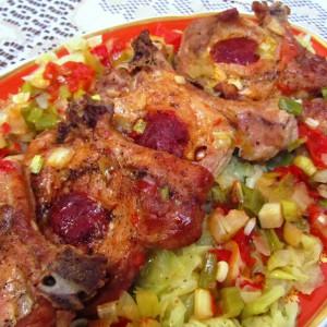 Печени кременадли со чаден колбас