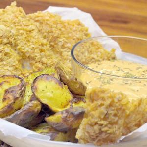 Видео рецепт: Крцкави филети од риба со овесни снегулки