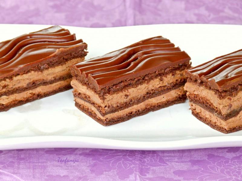 Чоколадни тортици со портокал