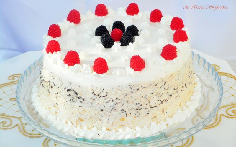 Снежна торта (без печење) (200ти рецепт)