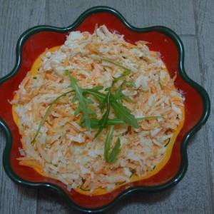 Зимска салата од морков, целер и репа