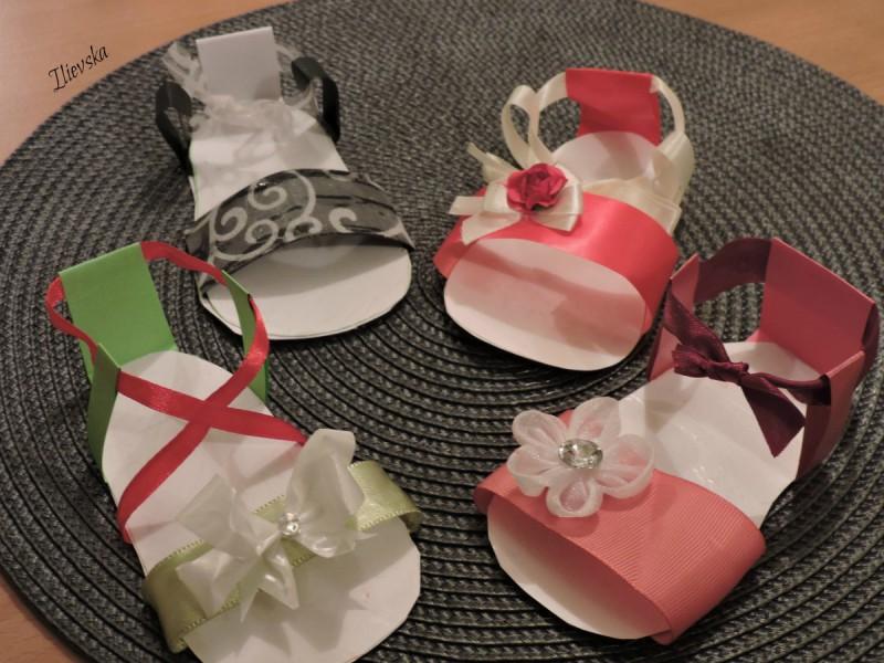 Сандали за постапалки - декорација