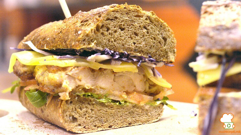 Видео рецепт: Бафало пилешки сендвич