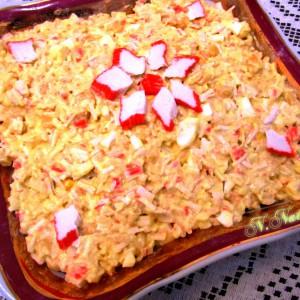 Сурими салата со ориз