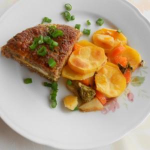 Неделен ручек од мелено месо и разноврсен зеленчук