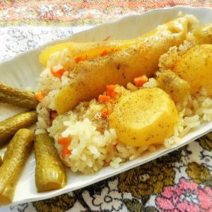 Сторени пиперки на ориз (посно)
