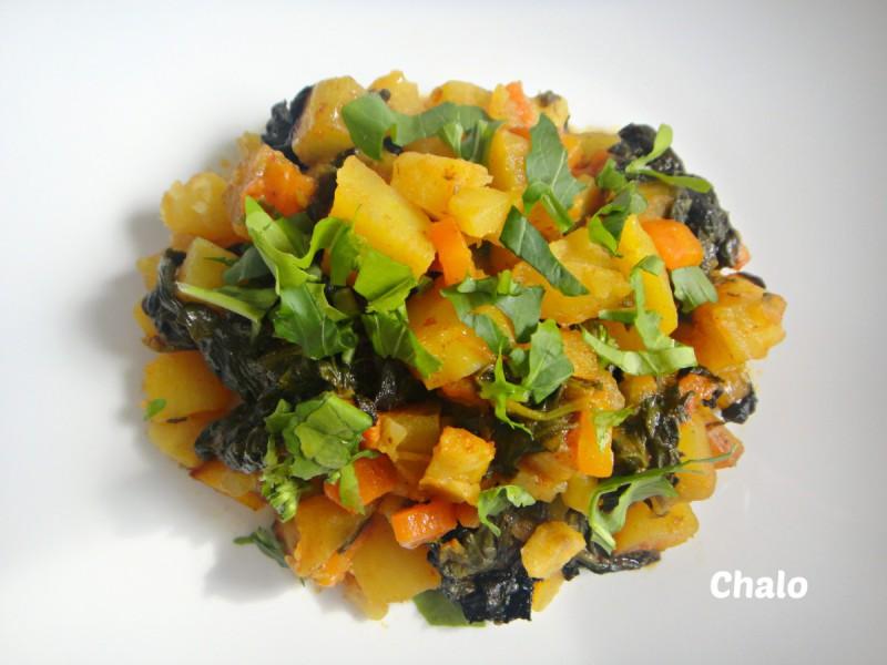 Зеленчук во тава (посно)